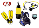 Scuba diving equipment list