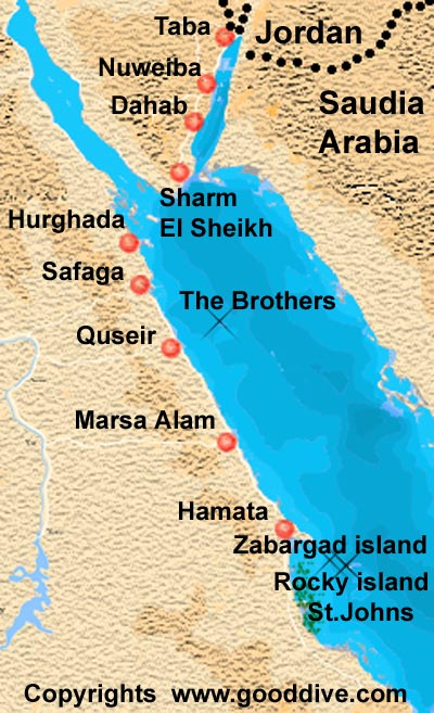 Map of the red sea
